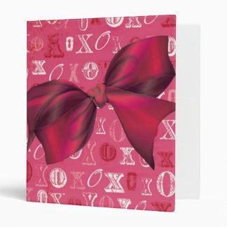 XXOO Bows & Roses Matching Set Vinyl Binder