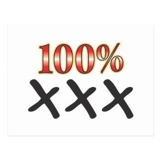 XXX 100 Percent Postcard