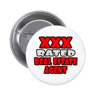 XXX agente inmobiliario clasificado Pin Redondo De 2 Pulgadas