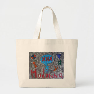 XXX Blue Alien Madonna Large Tote Bag