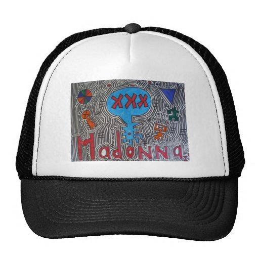 XXX Blue Alien Madonna Trucker Hat