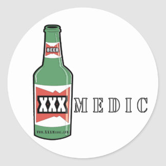 XXX cerveza del médico Etiquetas Redondas