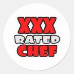 XXX cocinero clasificado Pegatina Redonda