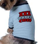 XXX cocinero clasificado Ropa De Perros