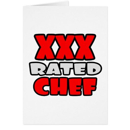 XXX cocinero clasificado Tarjeta