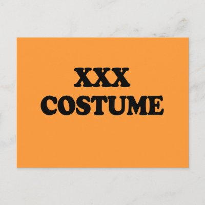XXX COSTUME - POST CARD by HalloweenCostumes