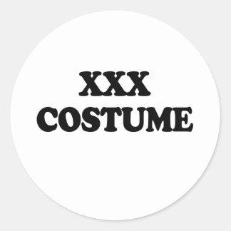 XXX COSTUME - ROUND STICKER