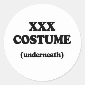 XXX Costume Round Stickers