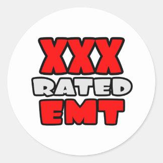 XXX EMT clasificado Pegatina Redonda