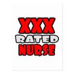 XXX enfermera clasificada Tarjeta Postal