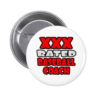 XXX entrenador de béisbol clasificado Pin Redondo De 2 Pulgadas