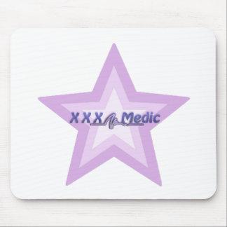 XXX estrella y texto púrpuras del médico Mouse Pad