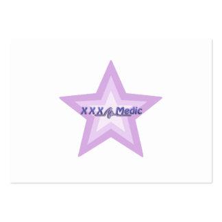 XXX estrella y texto púrpuras del médico Tarjetas De Visita Grandes