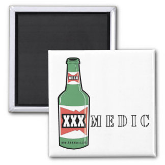 XXX Medic Beer 2 Inch Square Magnet
