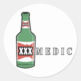 XXX Medic Beer Classic Round Sticker
