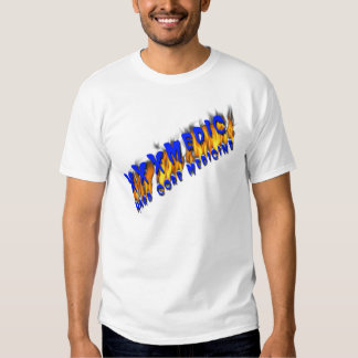 XXX Medic Blue Text With Flame T-shirt