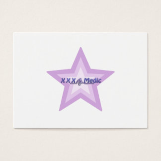 XXX Medic Purple Star And Text Business Card