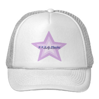 XXX Medic Purple Star And Text Hats