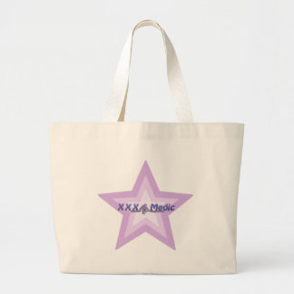 XXX Medic Purple Star And Text Large Tote Bag
