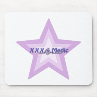 XXX Medic Purple Star And Text Mouse Pad
