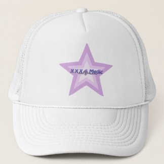 XXX Medic Purple Star And Text Trucker Hat
