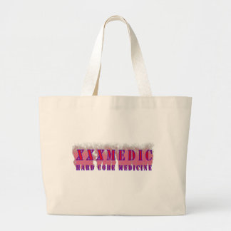 XXX Medic Red text with red smoke Large Tote Bag