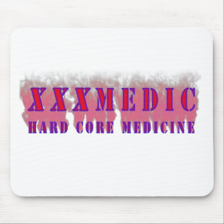 XXX Medic Red text with red smoke Mouse Pad