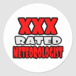 XXX meteorólogo clasificado Etiquetas Redondas
