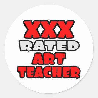 XXX profesor de arte clasificado Pegatina Redonda