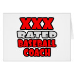 XXX Rated Baseball Coach Greeting Cards