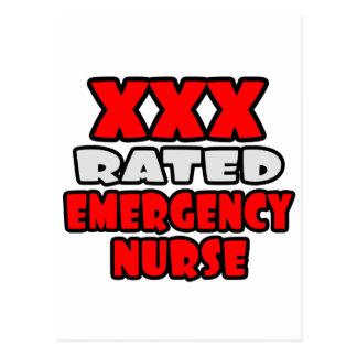 XXX Rated Emergency Nurse Postcard