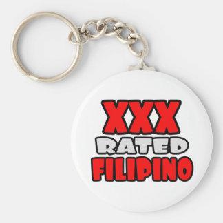 XXX Rated Filipino Basic Round Button Keychain