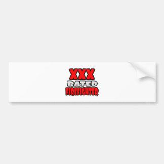 XXX Rated Firefighter Car Bumper Sticker