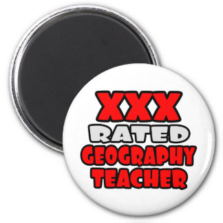 XXX Rated Geography Teacher 2 Inch Round Magnet