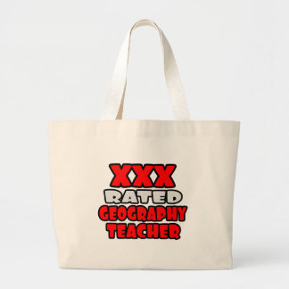 XXX Rated Geography Teacher Jumbo Tote Bag