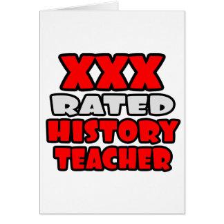 XXX Rated History Teacher Card