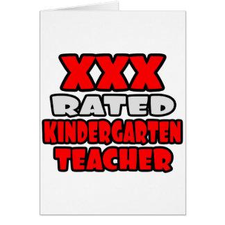 XXX Rated Kindergarten Teacher Card