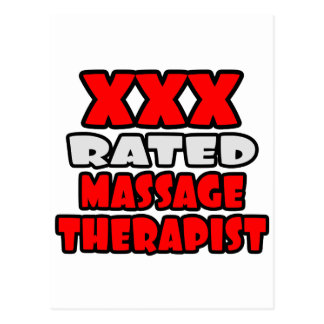 XXX Rated Massage Therapist Postcards