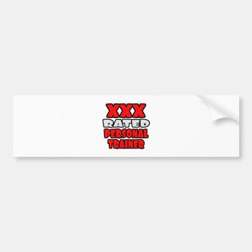 XXX Rated Personal Trainer Car Bumper Sticker