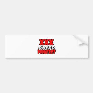 XXX Rated Podiatrist Bumper Sticker