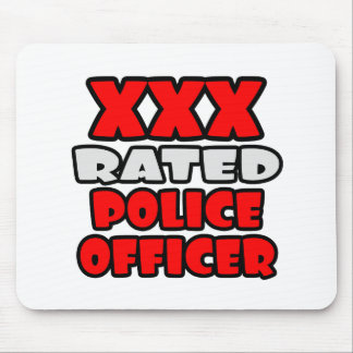 XXX Rated Police Officer Mouse Pad