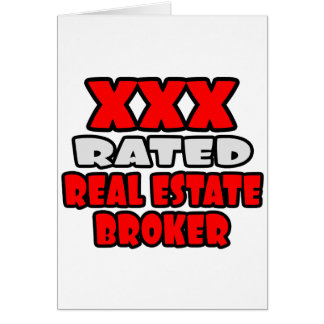 XXX Rated Real Estate Broker Card