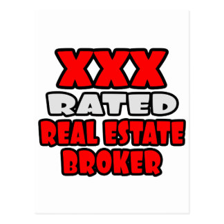 XXX Rated Real Estate Broker Postcard