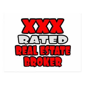 XXX Rated Real Estate Broker Postcards
