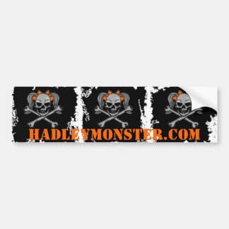 XXX Skulls w/ Orange Bows Bumper Sticker