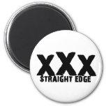 xXx Straight Edge Fridge Magnets