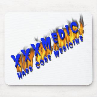 XXX texto azul del médico con la llama Tapetes De Ratón