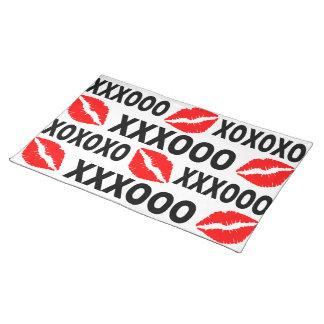 XXXOOO Lips placemat Cloth Place Mat