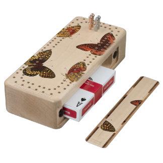 XXXV Argynnis nokomis Cribbage Board