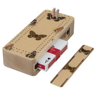 XXXVII Synchloe, Melitaea Maple Cribbage Board